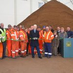 Smiths Falls salt shed ready for winter