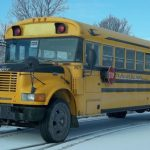 School bus and car collision in Rideau Lakes yesterday – No injuries