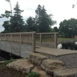 Pedestrian bridge closed due to rising water levels