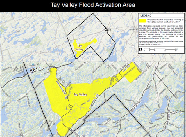 Tay Valley flood activation area.