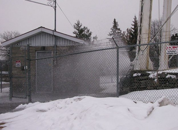 Leak in the Smiths Falls water tower.