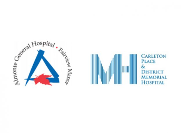 Almonte General Hospital and Carleton Place & District Memorial Hospital logos