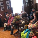 Chimo students question the mayor in council chambers