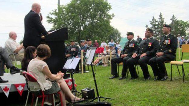 Memorial ceremony speaker.