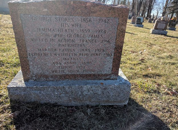 The George Stokes family plot at Elmwood Cemetery