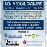 UCDSB and CDSBEO in conjunction with health units host two more public sessions on non-medical cannabis