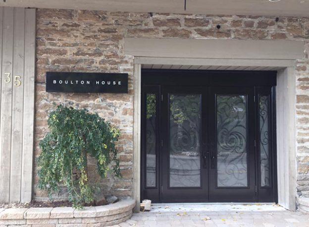 Boulton House front door.