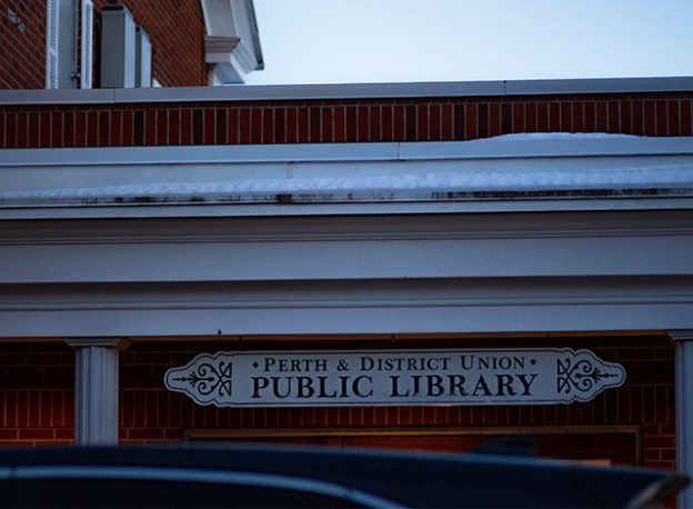 The Perth & District Union public library's front entrance