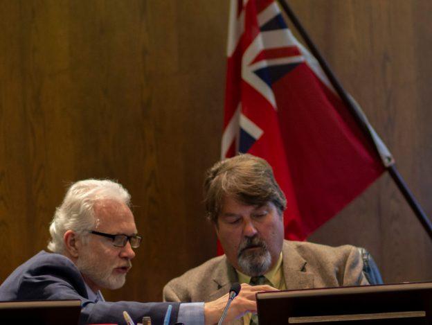 Mayor Shawn Pankow and Councillor Jay Brennan