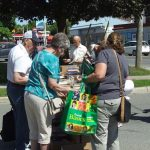 Sun and warmth enticed a crowd to annual book sale