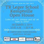 TR Leger Kemptville Campus Open House on December 3