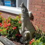 Stolen wolf sculpture found after plea goes viral