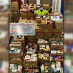 Local paramedic help Build a Mountain of Food
